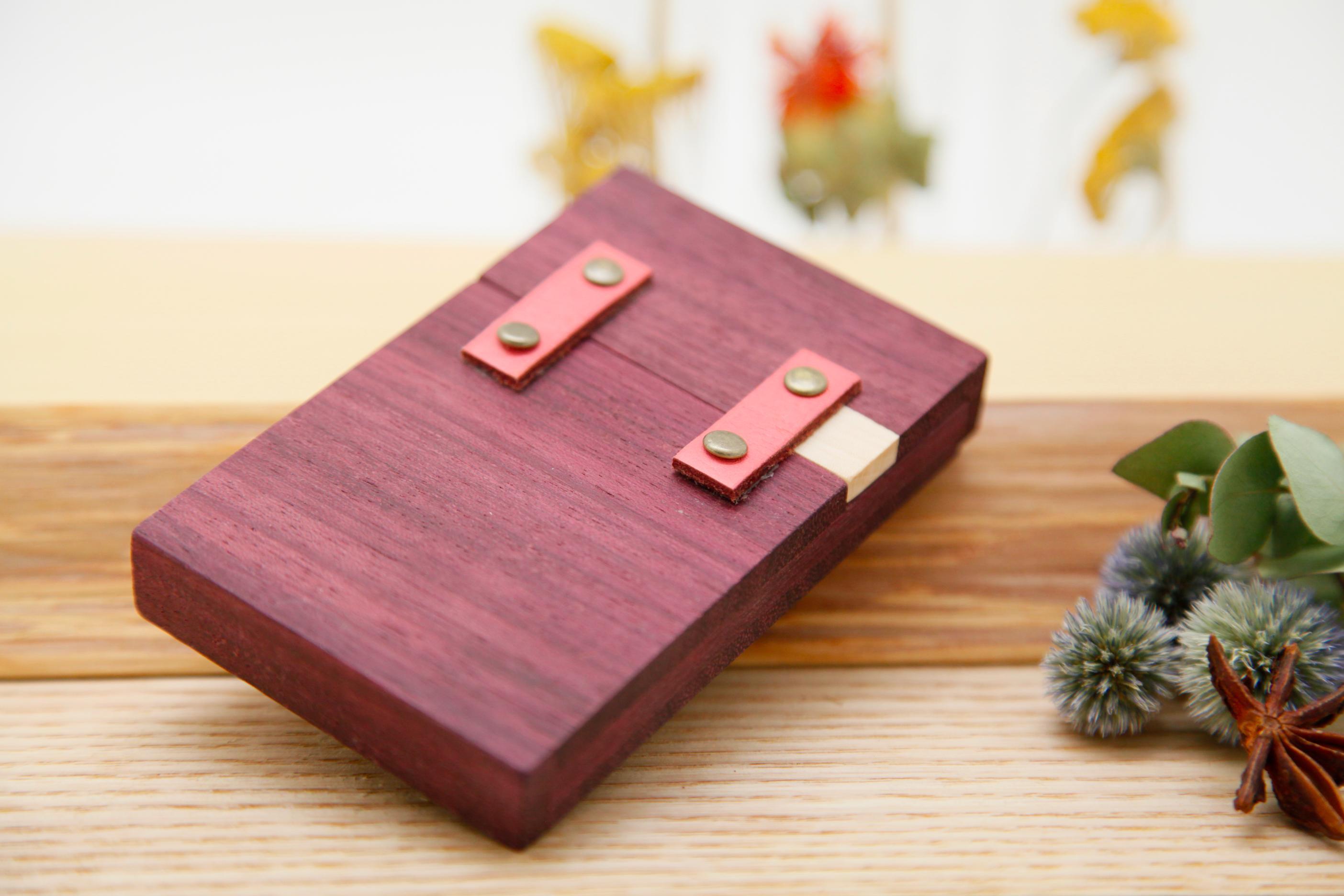 カードケース パープルハート×ピンク