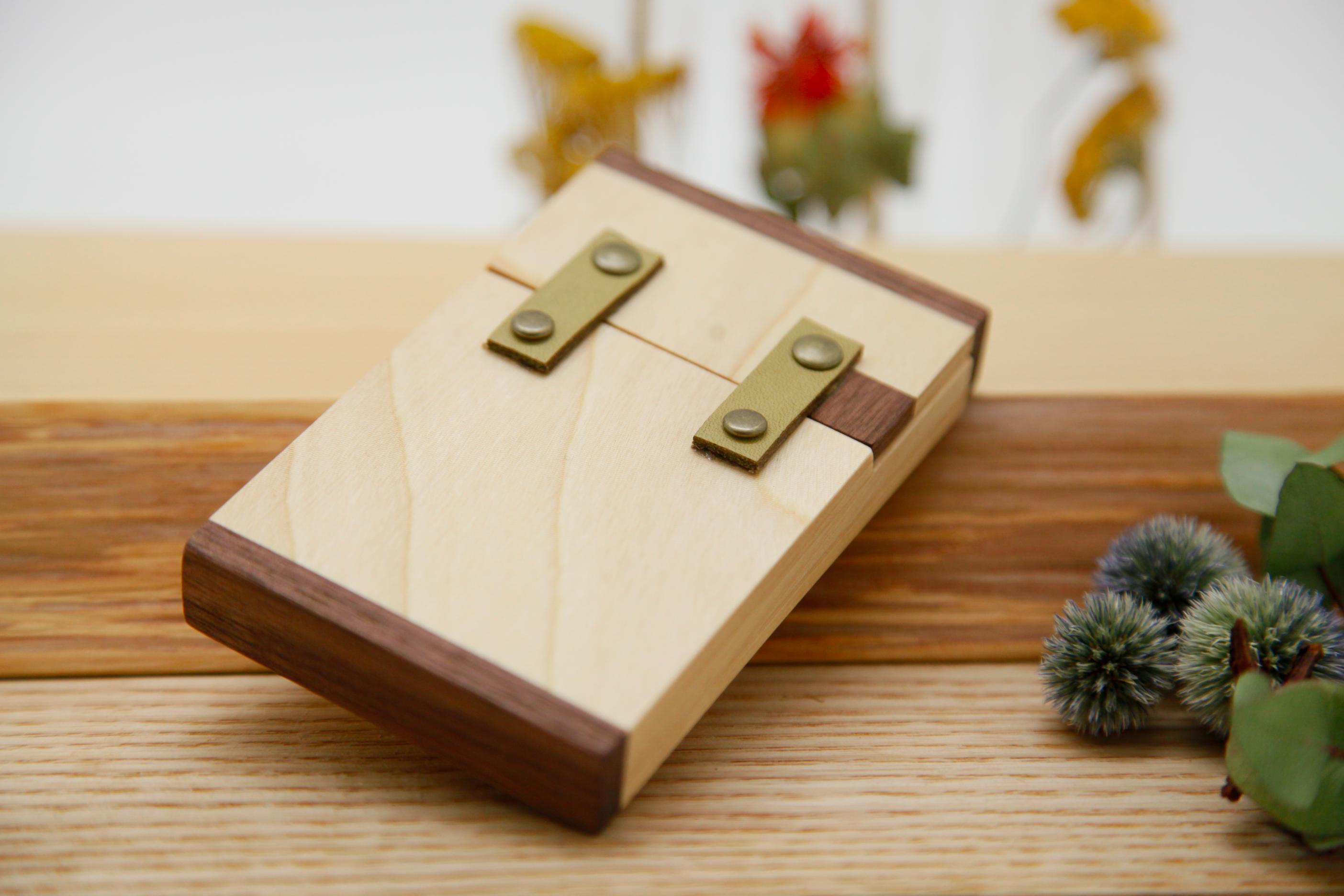 カードケース トチ×グレイグリーン