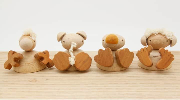 木のおもちゃフスフス セット