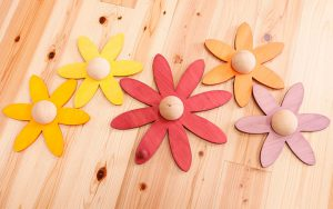壁掛けお花の木のおもちゃ ポリーポルタン