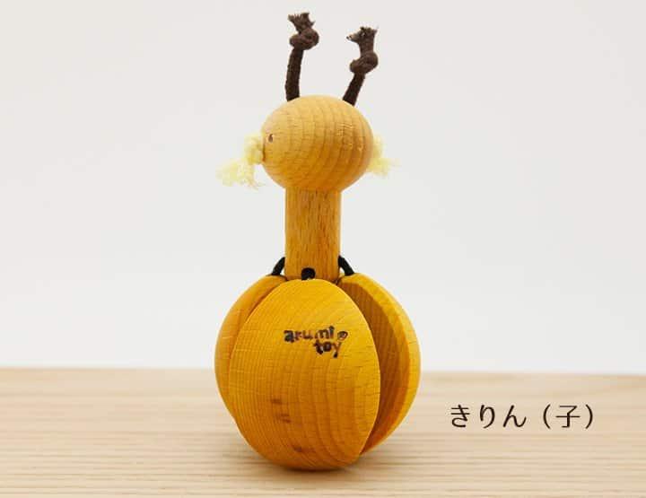 木のおもちゃ クオーター(赤ちゃんガラガラ)キリン