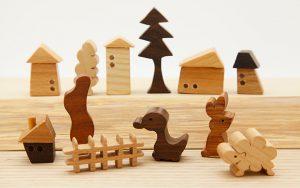 木のおもちゃ、うとぴれすと 田園セット