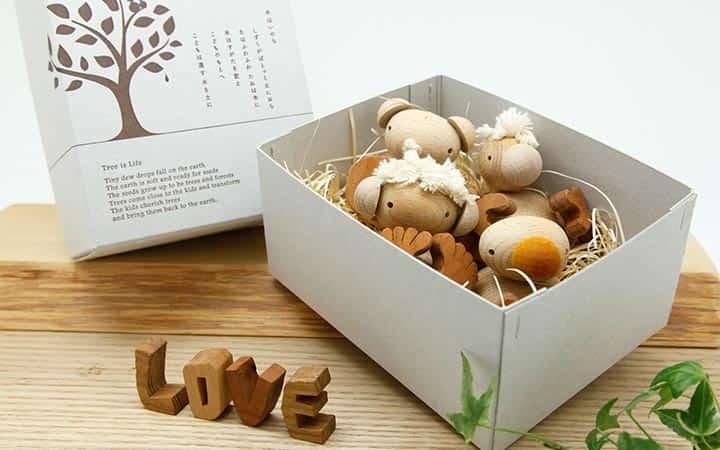 フスフス(人形遊び):名前ギフトセット 日本製の木のおもちゃ【出産祝い・誕生日】