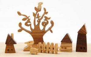 お名前ツリーギフトセット(オーダーメイド)名前のギフト&飾って遊ぶ木のおもちゃ